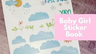 Baby Girl Sticker Book Flip Through   Krystal Klear Ideas