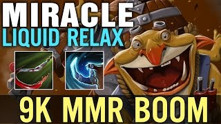 Dota 2 Liquid & Miracle Techies - 9K MMR BOOM - Time to Relax