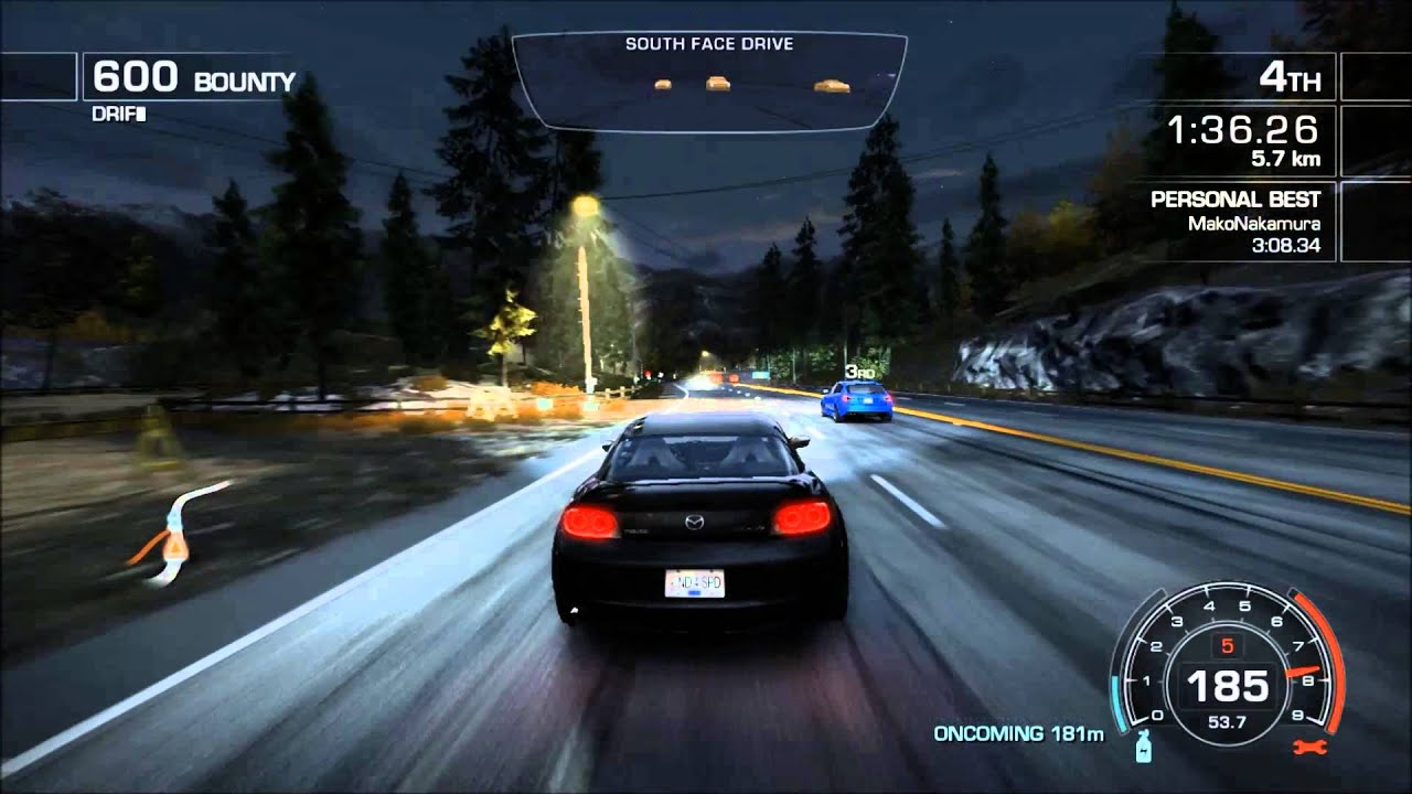 need for speed hot pursuit 2010 - mazda rx8 drift race - mako