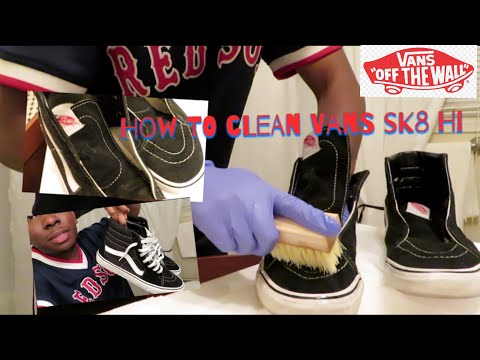 Tutorial: How to Clean Vans Sk8 Hi! (VERY EASY!!)