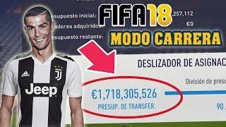 COMO VOLVERTE MILLONARIO EN MODO CARRERA (NUEVO METODO... Mas FACIL!!!) - FIFA 18 Glitch
