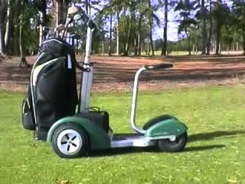 Electric Scooter With Seat >> New Electric Golf Trolley - YouTube
