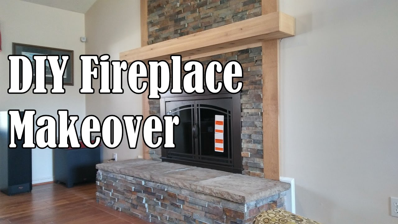 Diy Stone Fireplace Makeover Ourhouse You Rh Com How To Build Ark