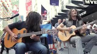 Best Street Performer Guitarist! Truly Amazing Guitar Duo