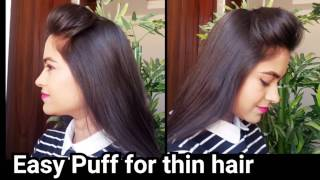 Perfect PUFF for THIN HAIR! Everyday Quick Easy puff hairstyles for school/college/work