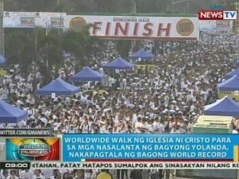 Worldwide Walk ng Iglesia Ni Cristo, nakapagtala ng bagong world record