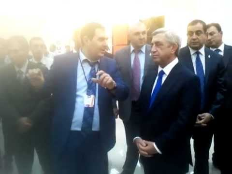 X-TECH At DigiTec Expo 2012 - Arman Atoyan And Serzh Sargsyan