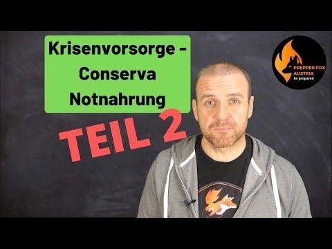 Krisenvorsorge - Notnahrung von Conserva TEIL 2 - Fragen und Antworten!