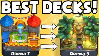 Clash Royale BEST ARENA 7 - ARENA 9 DECKS UNDEFEATED | BEST ATTACK STRATEGY TIPS F2P PLAYERS