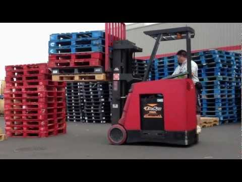 DRIVING MY FORKLIFT AT WORK