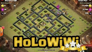 100% a TH9 Max usando HoloWiWi | Clash of Clans