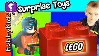 Super BIG Blockhead Robin + GIANT Lego with Surprise Toys! HobbyKidsTV