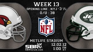 Arizona Cardinals vs New York Jets: 2012 NFL Free Picks Week 13