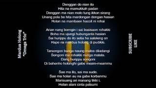 Lirik (Mardua Holong) Lagu Batak Terpopuler