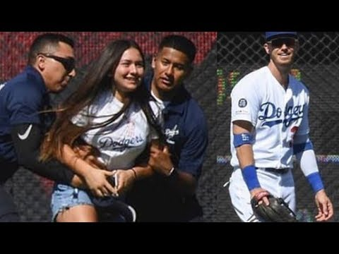 Crazy 14 Year Old Dodger Fan ARRESTED After Jumping Onto Field To HUG Cody Bellinger!
