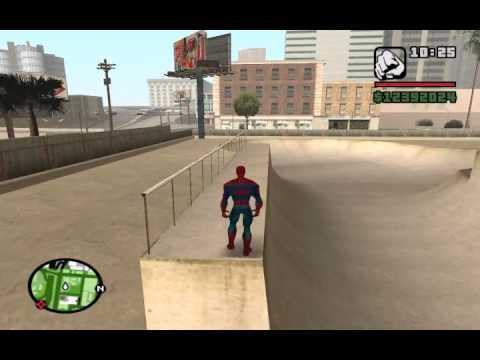 Gta:Sa паркур человек паук