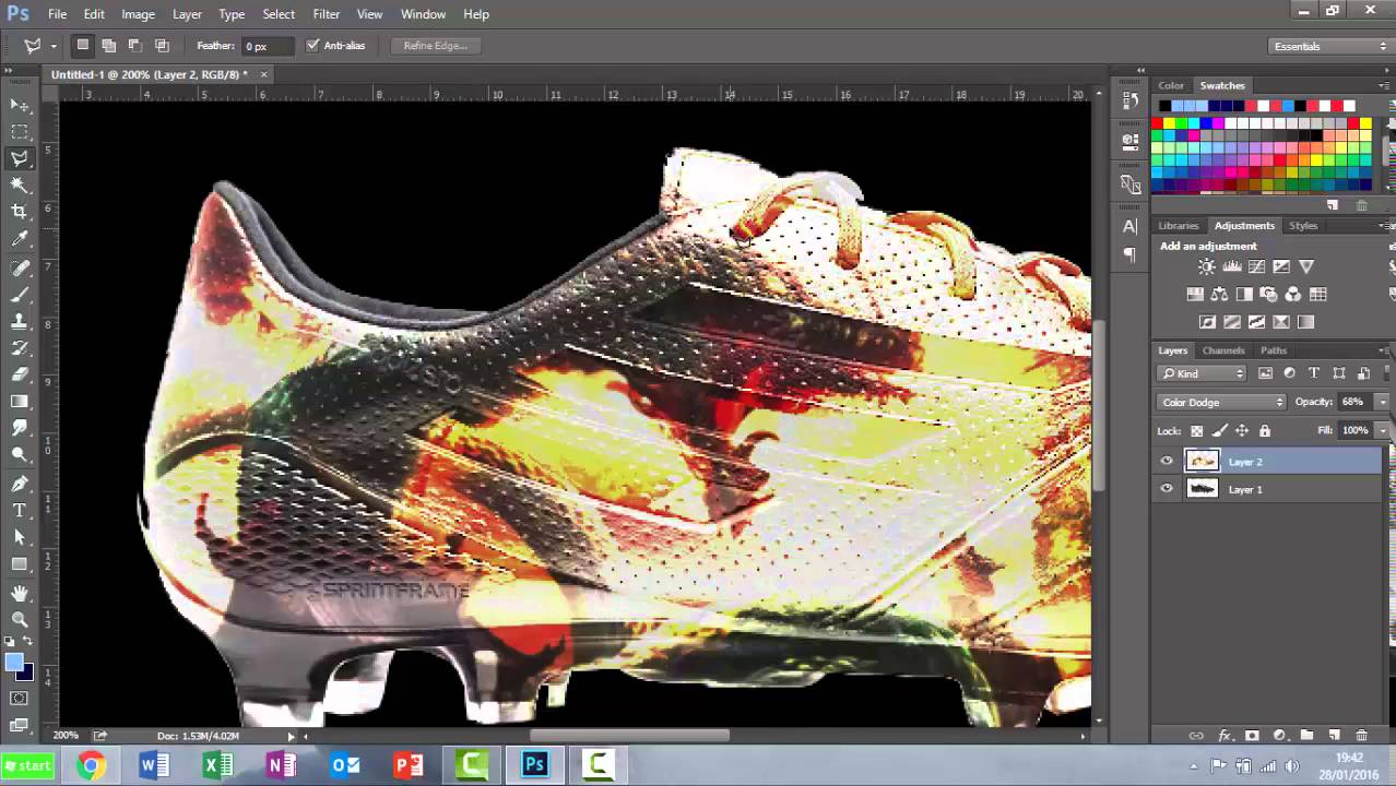 efaef8bf83aaa9 Design Your Own Football Boots In Photoshop - YouTube