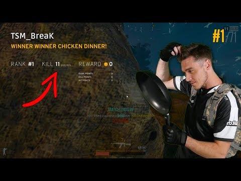 TSM BreaK 11 kill win [FULL POV] - PUBG Solo Main Event - GAMESCOM INVITATIONAL - GAME 1