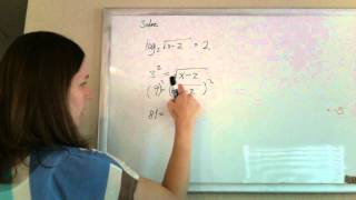 solving a logarithmic equaion log base 3 of the square root of x 2 2