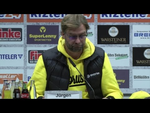 Pressekonferenz: Jürgen Klopp nach dem Spiel beim SC Paderborn (2:2)   BVB