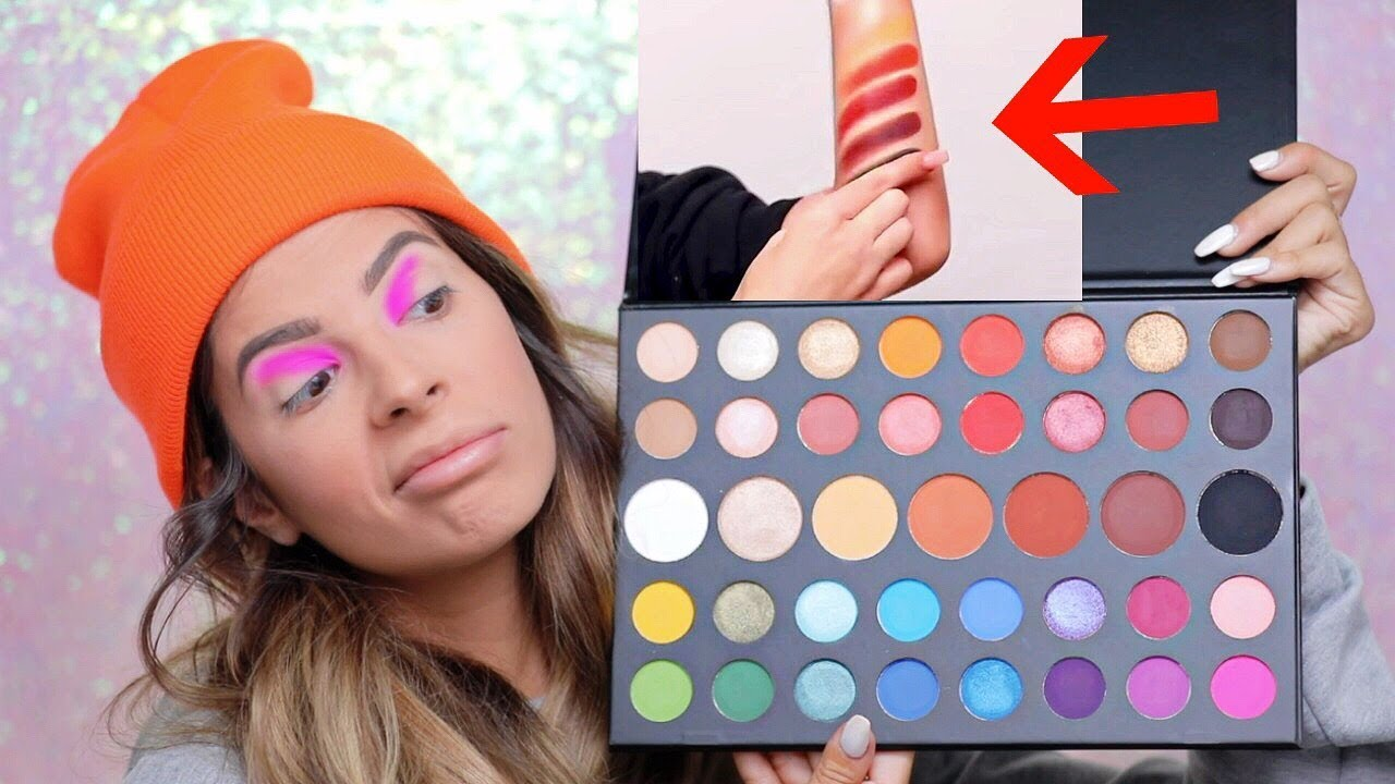 James Charles X Morphe Palette Hit Or Miss Swatches Youtube