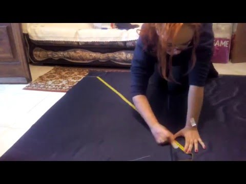 How to cut fabric for a circle skirt