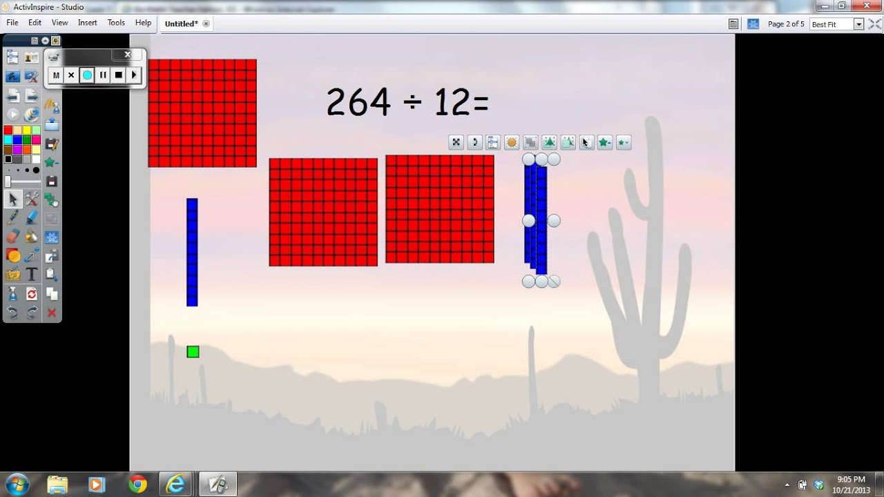 medium resolution of Lesson 2.3 Dividing with 2 digit divisor using base ten blocks - YouTube