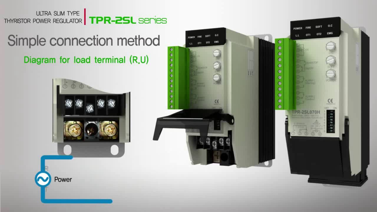Ultra Slim Type Thyristor Power Regulator Tpr 2sl Youtube Scrpowercontrollercircuitjpg