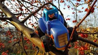 Мультики про машинки Синий трактор и малыш Детское видео
