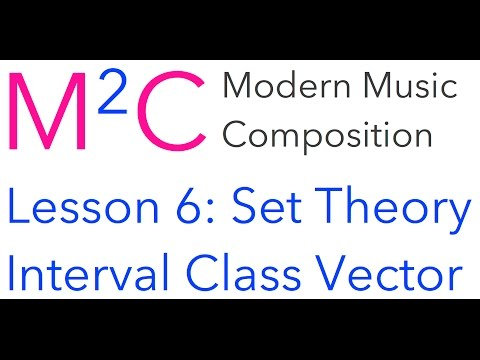 M2C Lesson 6: Set Theory and Interval Class Vector