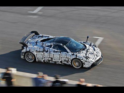 Pagani Huayra BC spotted testing on track!