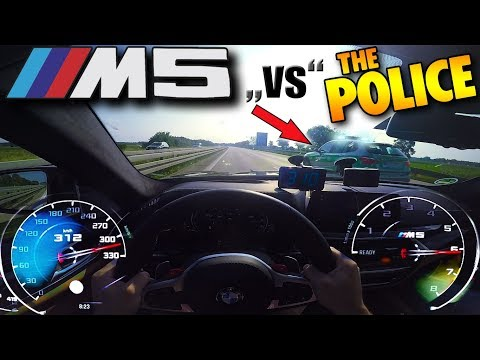 POLICE smoked at 310km/h (192 MPH) by BMW M5 F90 on German Autobahn ✔