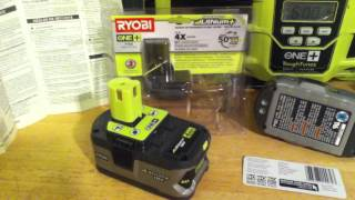 Ryobi P108 High Capacity Lithium Ion Battery for One+ 18v cordless power tools