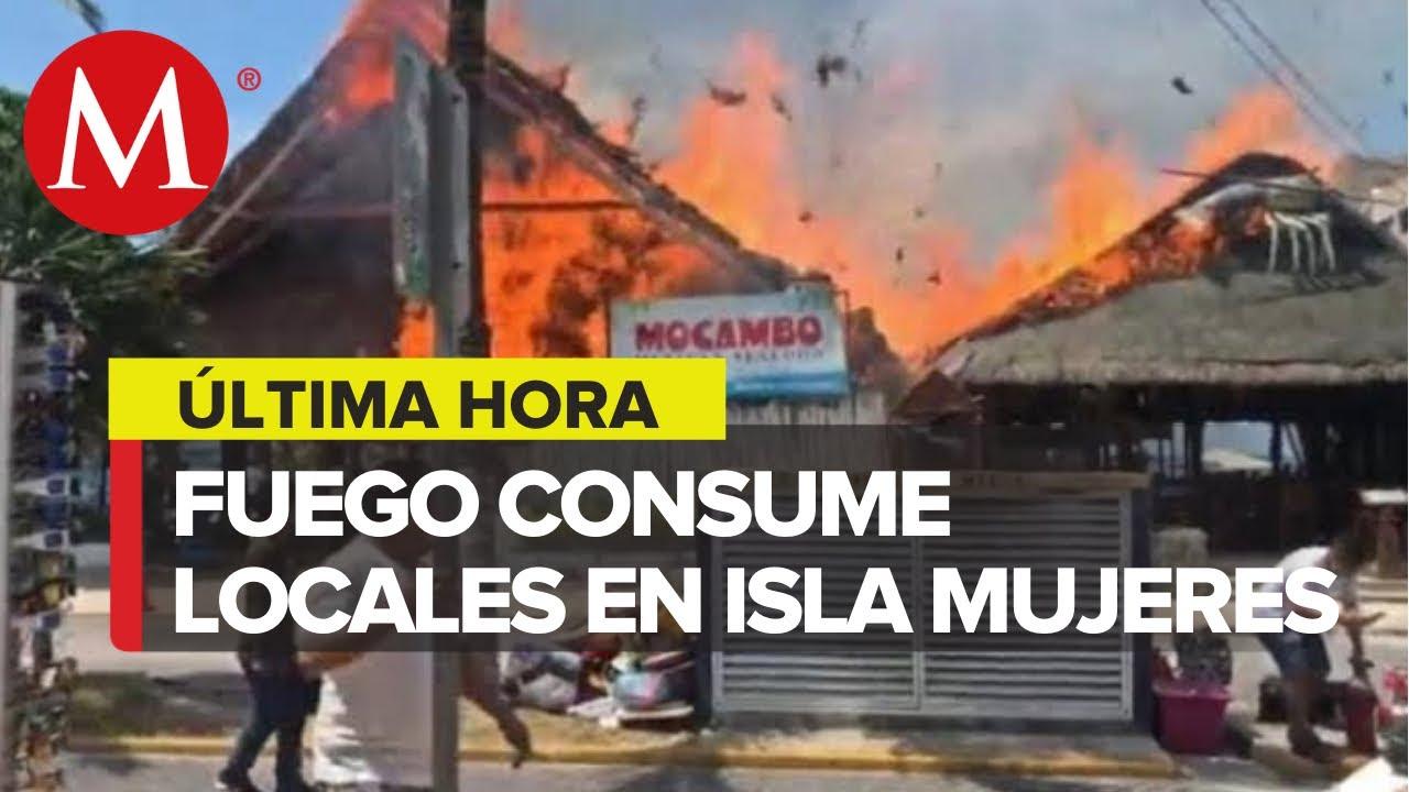 Incendio destruye 8 locales comerciales