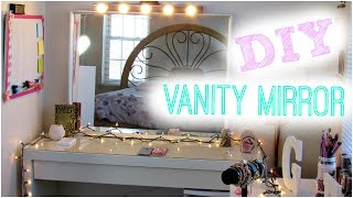 Diy Hollywood Vanity Light Mirror | Diy Room Decor ♥ Easy, Cheap, & No Drilling!