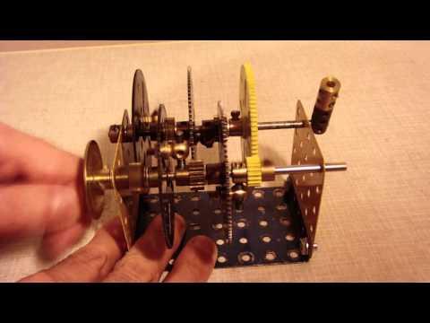 Meccano compact 3,125:1 reduction ratio gear box