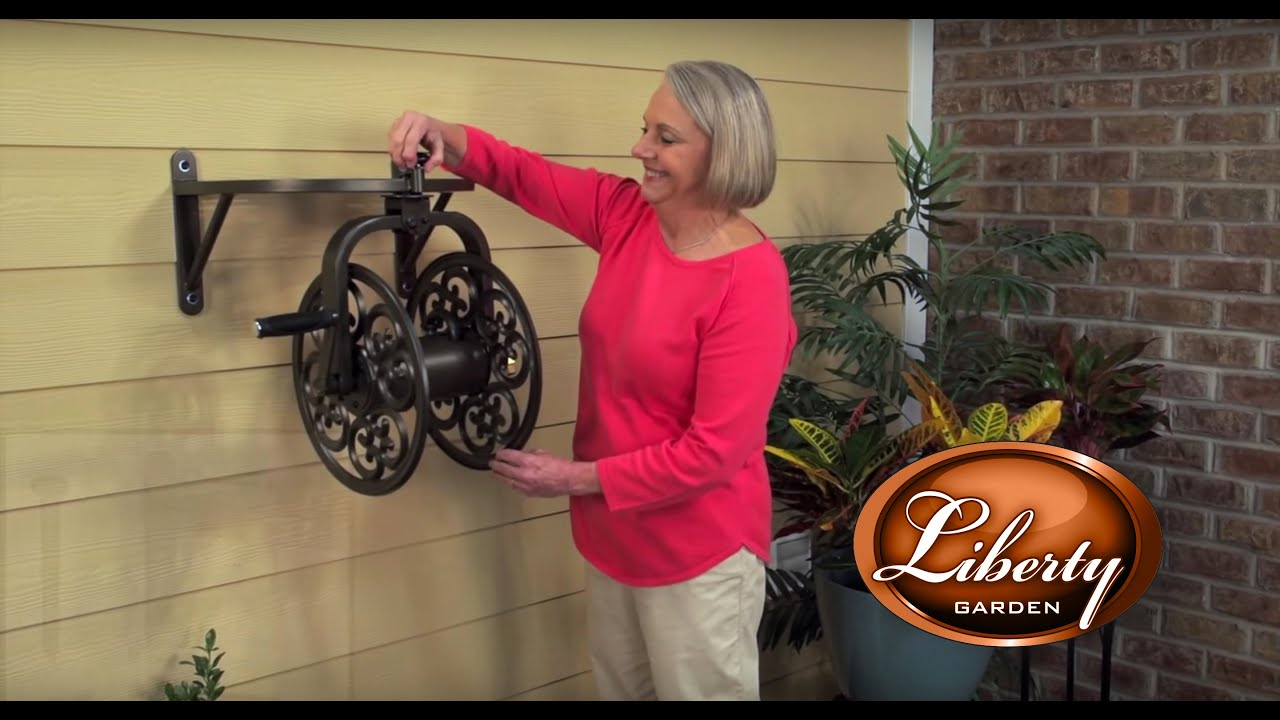 Liberty Garden Wall Mounted Hose Reel Installation Tutorial II