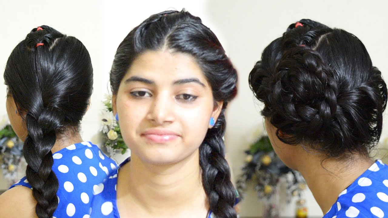 Malyali Side Braid Hairstyle On Oily Hair