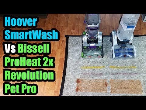Hoover Smartwash vs Bissell Proheat 2x Revolution Pet Pro Carpet Cleaner