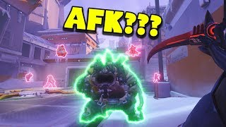 Genji Caught The WHOLE TEAM AFK?!? - Overwatch Funny Moments & Best Plays #114