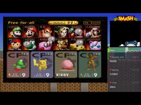 """The Stream Before """"The"""" Stream - Super Smash Bros n64 (Offline) """"Link Is Suicidal?"""""""