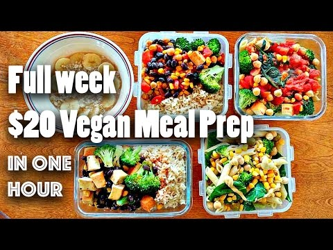 MEAL PREP FOR THE WEEK FOR $20 (VEGAN + EASY)