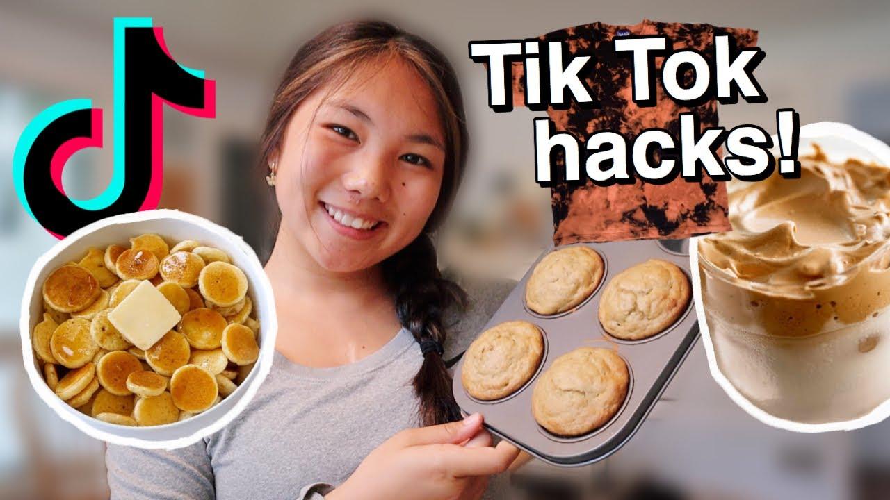 TESTING VIRAL TIK TOK LIFE HACKS (food & clothing)