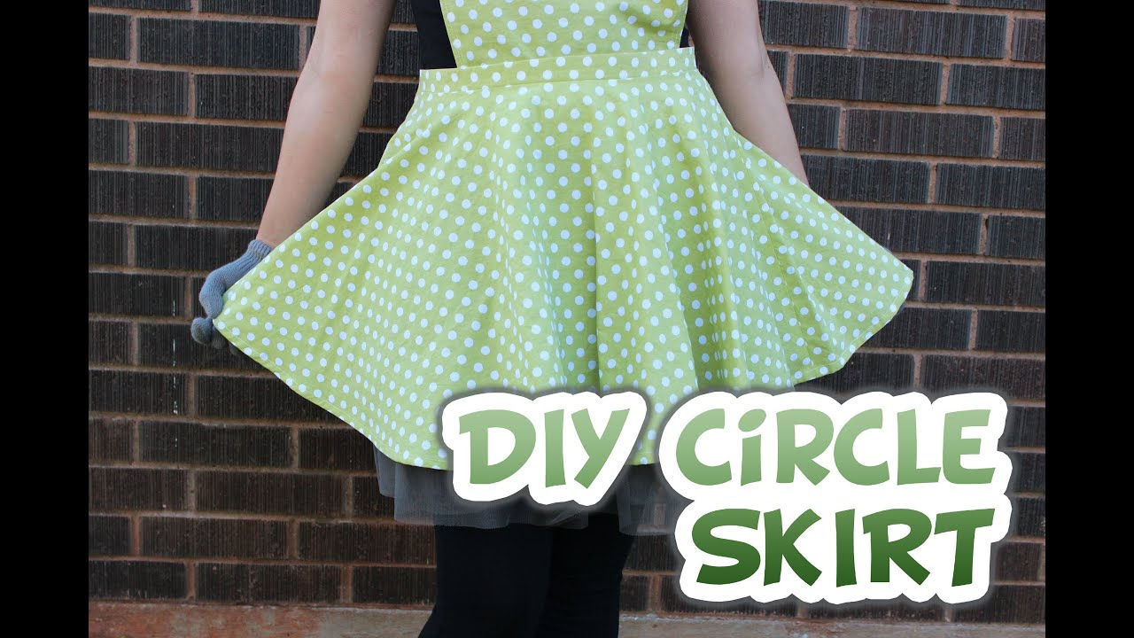 Diy Circle Skirt With Zipper Whitney Sews Youtube