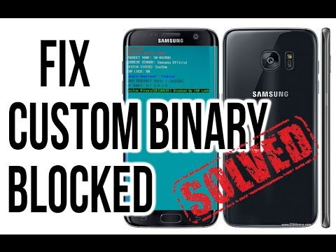 Custom Binary (RECOVERY) Blocked by FRP lock, GALAXY S6, S7 EDGE