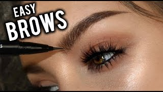 FLUFFY HAIRSTROKE BROWS TUTORIAL