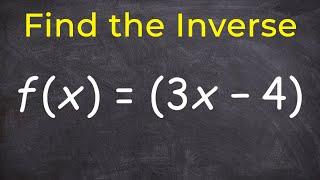 Finden Sie die inverse einer Funktion