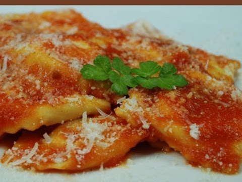Ravioli di ricotta, italian traditional recipe