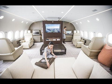 Inside The Boeing Dreamliner B787 The World's Largest Private Jet (Cost £20,000 Per Hour)