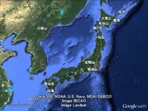 転載動画「富士山のフルパワーを1とした場合」のコピペに出てくる火山集